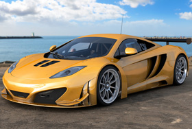 yellow sportcar